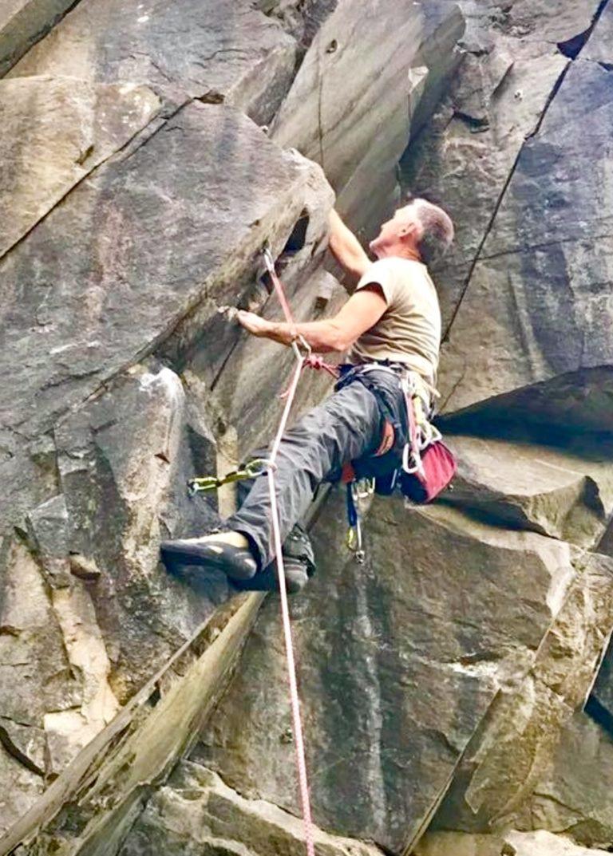 Bob in Bram Crag Quarry