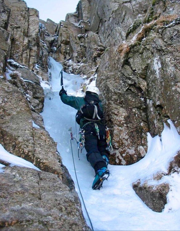 Peter on One Pitch Gully, Great End