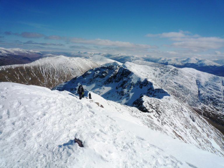 The ridge down Ben Cruachan, Scotland