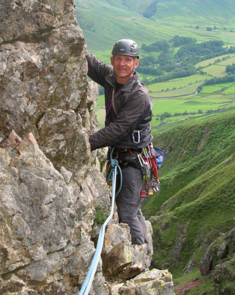 Bob climbing at White Ghyll
