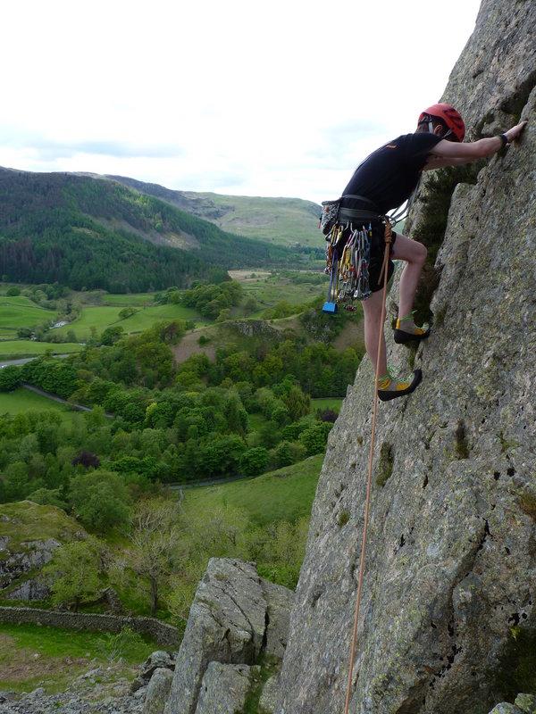 Castle Crag Slab Climb