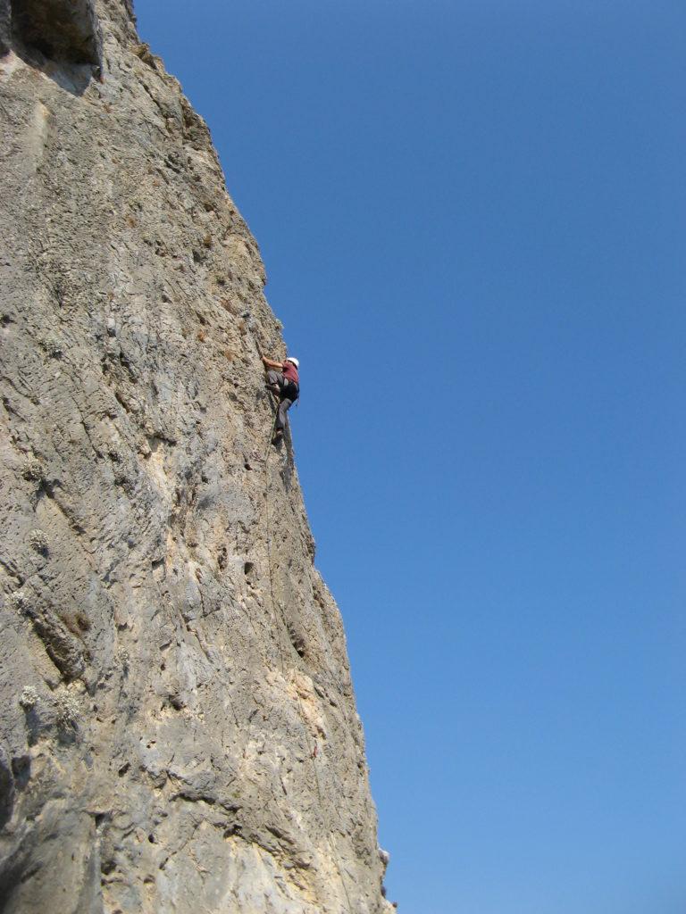 Jonathan climbing in Kalymnos