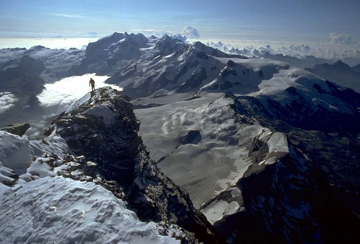 Matterhorn - coming over the summit ridge