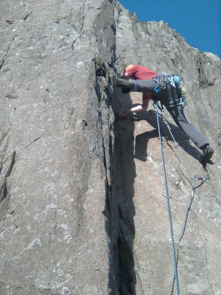 Miners Crag - Talulah proves rather stretching!