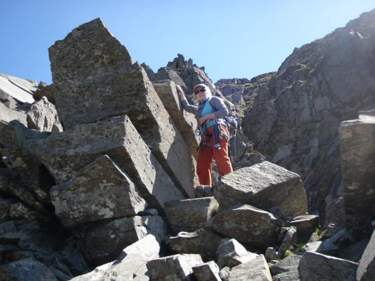 Judith on Pinnacle Ridge, St. Sunday Crag