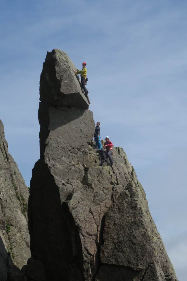 Mark and other KMC members on Napes Needle, Great Gable