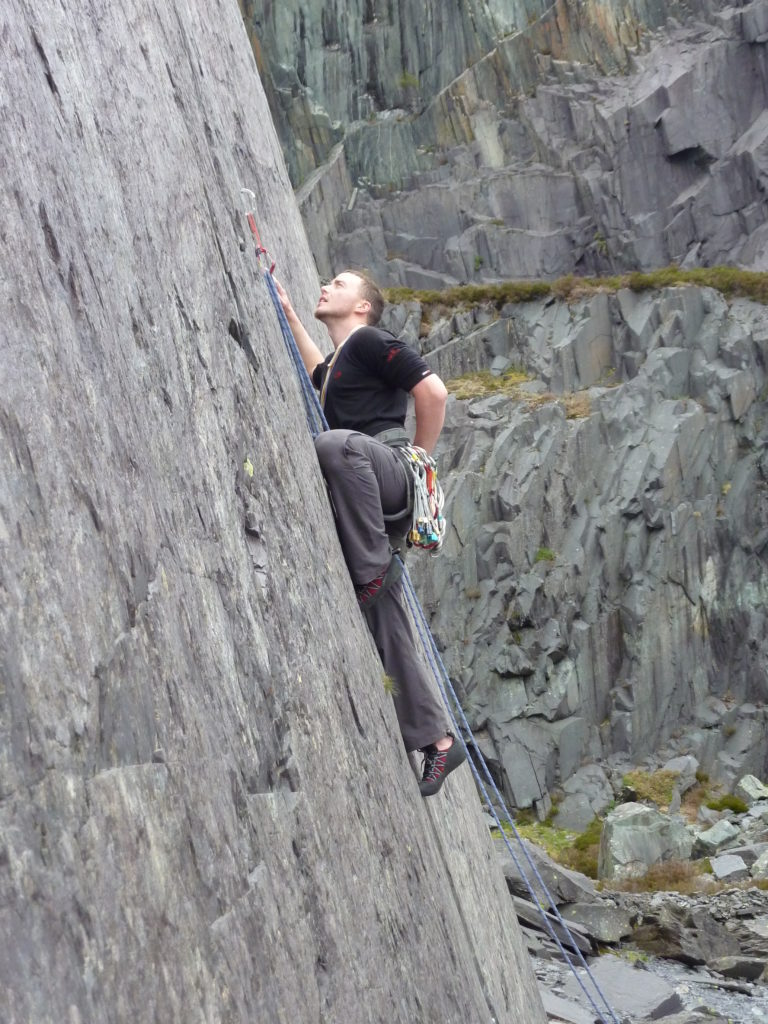 Climbing on the slate (N Wales Meet)